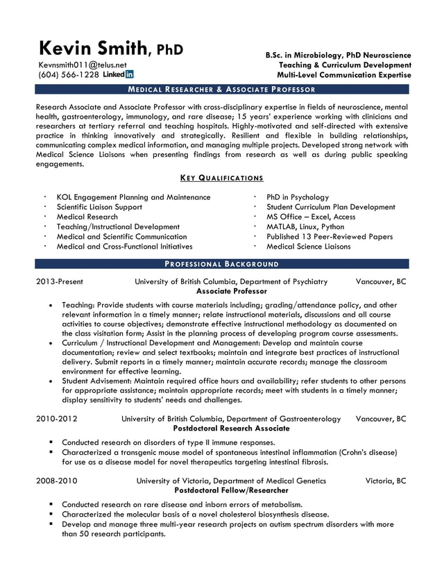 Resume Samples Calgary Resume